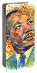 Martin Luther King Jr Portrait Portable Battery Charger
