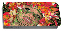 Mask Freckles And Flowers Portable Battery Charger