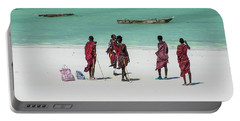 Massai At The Beach Portable Battery Charger