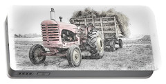 Portable Battery Charger featuring the photograph Massey Harris by Brad Allen Fine Art