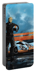 Portable Battery Charger featuring the painting Mc Queen 917 by Sassan Filsoof