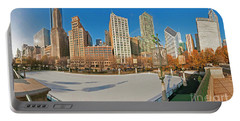 Mccormick Tribune Plaza Ice Rink And Skyline   Portable Battery Charger