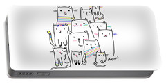 Meow Kitties - Baby Room Nursery Art Poster Print Portable Battery Charger