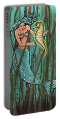 Mermaid And The Magic Seahorse Portable Battery Charger