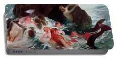 Mermaids At Play, 1886 Portable Battery Charger