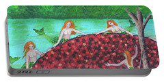 Mermaids Of The Cranberry Bog Portable Battery Charger