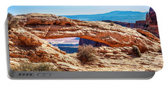 Portable Battery Charger featuring the photograph Mesa Arch by Andy Crawford