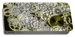 Metallic Motor Mechanisms Portable Battery Charger