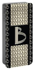 Metropolitan Park Deco 1920s Monogram Letter Initial B Portable Battery Charger