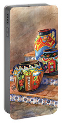 Mexican Pottery Still Life Portable Battery Charger