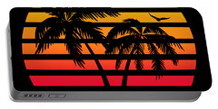 Miami 80s Tropical Sunset Portable Battery Charger