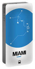 Miami Blue Subway Map Portable Battery Charger
