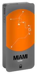 Miami Orange Subway Map Portable Battery Charger