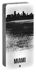 Miami Skyline Brush Stroke Black Portable Battery Charger