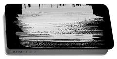 Miami Skyline Brush Stroke White Portable Battery Charger