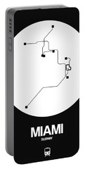 Miami White Subway Map Portable Battery Charger