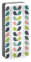 Mid Century Modern Leaf Pattern Portable Battery Charger