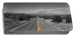Portable Battery Charger featuring the photograph Middle Of The Road by Tom Gresham