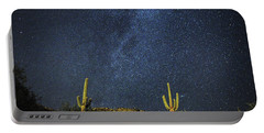 Milky Way And Cactus Portable Battery Charger