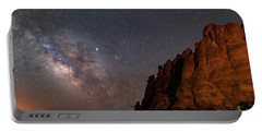 Milky Way At Navajo Rocks 2 Portable Battery Charger