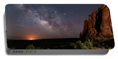 Milky Way At Navajo Rocks Portable Battery Charger