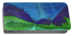 Portable Battery Charger featuring the painting Milky Way by Dobrotsvet Art