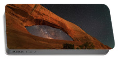 Milky Way Framed By Wilson Arch Portable Battery Charger