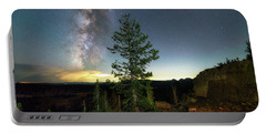 Portable Battery Charger featuring the photograph Milky Way In The Uinta Mountains by Michael Ash