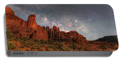 Milky Way Over Fisher Towers Portable Battery Charger