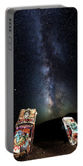 Milky Way Over Mojave Desert Graffiti 1 Portable Battery Charger