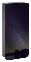Milky Way Over Prairie Lake Portable Battery Charger