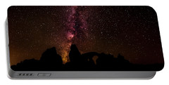 Portable Battery Charger featuring the photograph Milky Way Over Turret Arch by Andy Crawford