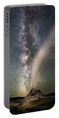 Milky Way Over White Dome Portable Battery Charger