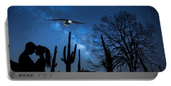 Portable Battery Charger featuring the digital art Milky Way Proposal by Ericamaxine Price
