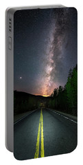 Portable Battery Charger featuring the photograph Milky Way Road by Michael Ash