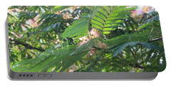 Mimosa Tree Blooms And Fronds Portable Battery Charger
