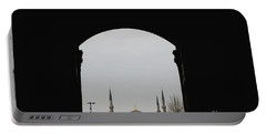 minarets in the city for the prayer of the Muslim religion Portable Battery Charger