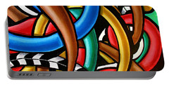 Colorful Abstract Art Painting Chromatic Intuitive Energy Art - Ai P. Nilson Portable Battery Charger