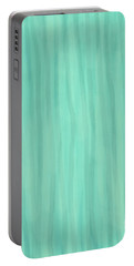Mint Green Lines Portable Battery Charger
