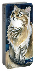 Misty Fluffy Cat Painting Portable Battery Charger