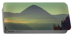 Misty Mountain Morning Portable Battery Charger