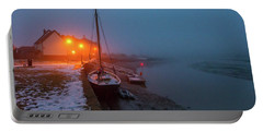 Portable Battery Charger featuring the photograph Misty Rowhedge Winter Dusk by Gary Eason