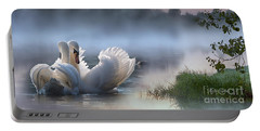 Misty Swan Lake Portable Battery Charger