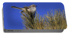 Mockingbird In White Pine Portable Battery Charger