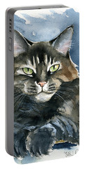 Mod Cat Painting Portable Battery Charger