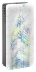 Portable Battery Charger featuring the photograph Modern Art Big Ben - Pastel Watercolor  by Melanie Viola
