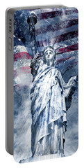 Modern Art Statue Of Liberty Portable Battery Charger