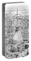 Mole Antonelliana Drawing Portable Battery Charger