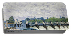 Molesey Weir, Hampton Court, 1874 Portable Battery Charger