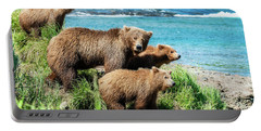 Mom And Her Three Cubs Portable Battery Charger